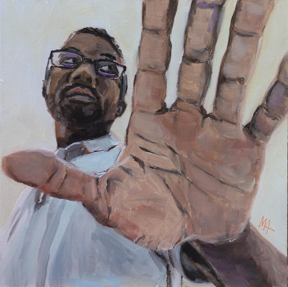 """Stop"" original fine art by Aniko Makay"