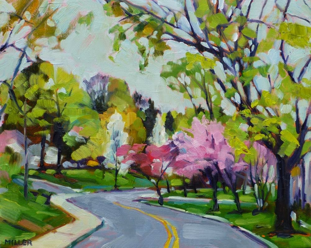 """""""Morning on Cleveland Drive No. 1"""" original fine art by Jessica Miller"""