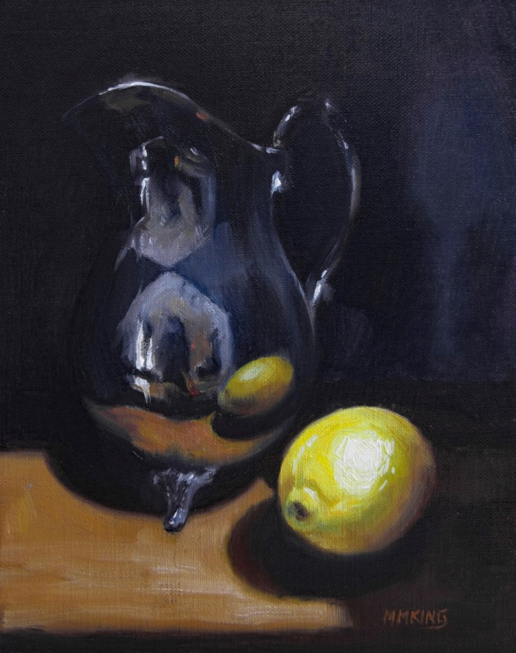 """Lemon with Tea?"" original fine art by Marilyn M King"
