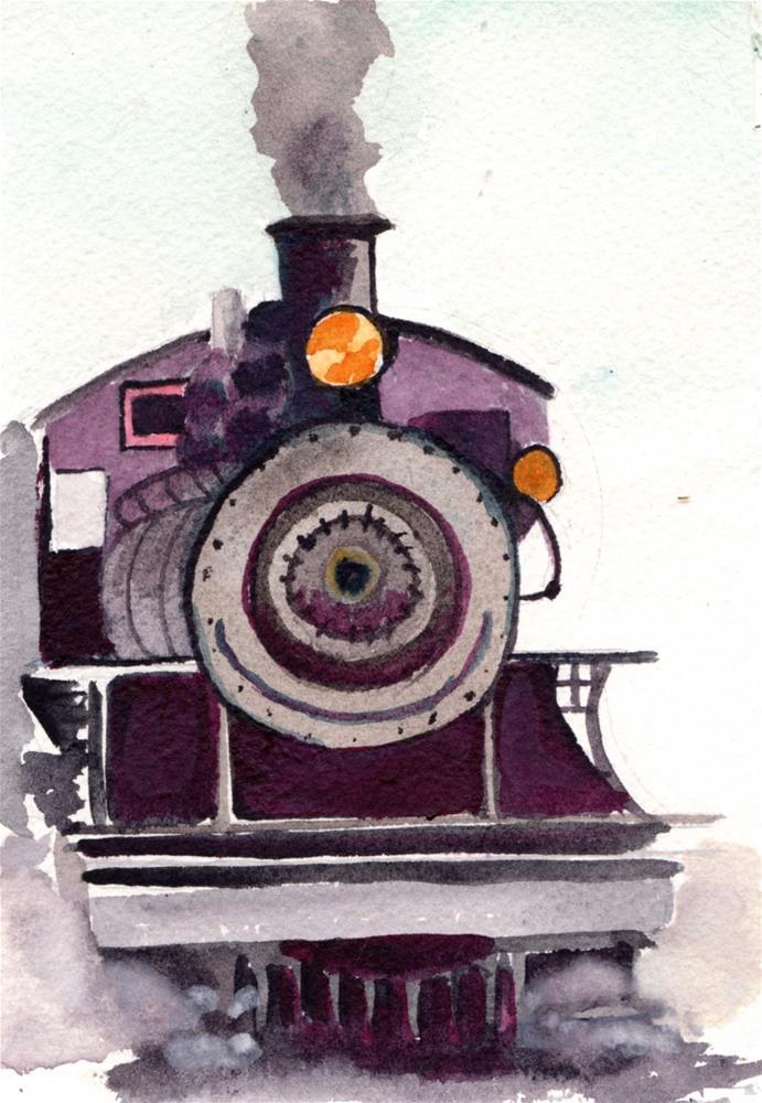 """""""Steam Train"""" original fine art by Bunny Griffeth"""