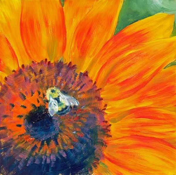 """""""Busy Bee"""" original fine art by Brenda Ferguson"""