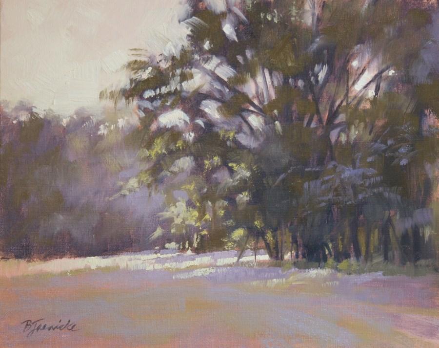 """Daybreak Streaming Through"" original fine art by Barbara Jaenicke"