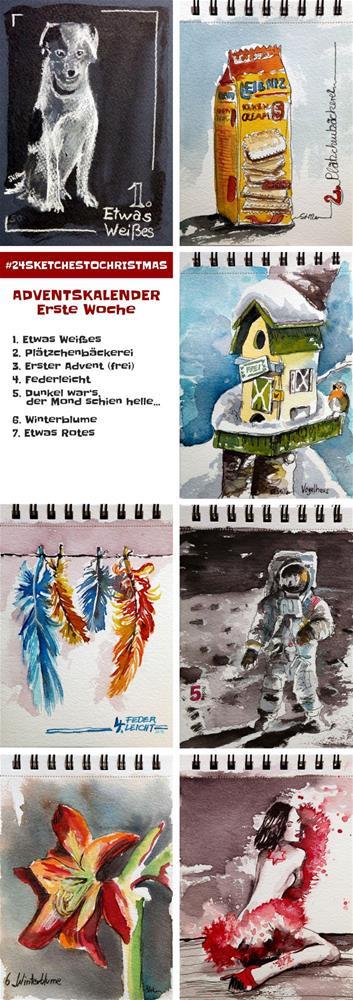 """""""2303 Twenty-Four Sketches 1"""" original fine art by Dietmar Stiller"""