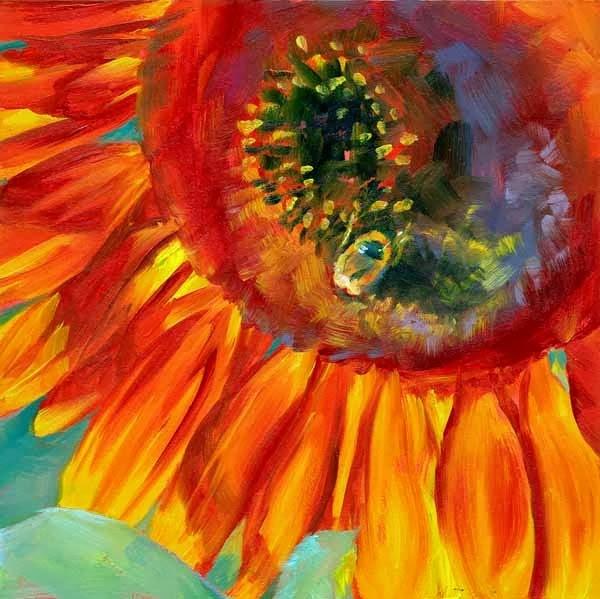 """Shades of Red"" original fine art by Brenda Ferguson"