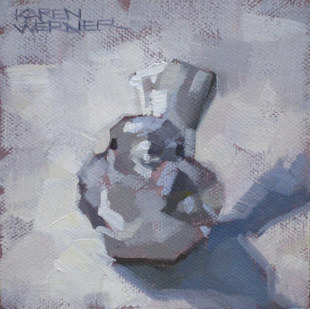 """""""Little Bird"""" original fine art by Karen Werner"""
