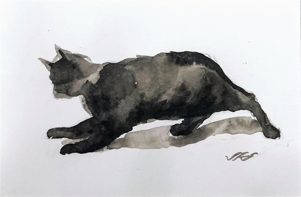 """Daily Cat 64"" original fine art by Jean Krueger"