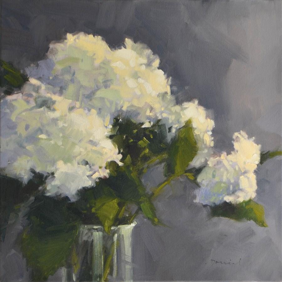 """Hydrangea Bouquet - on display in the annual American Women Artists Member Show!"" original fine art by Laurel Daniel"