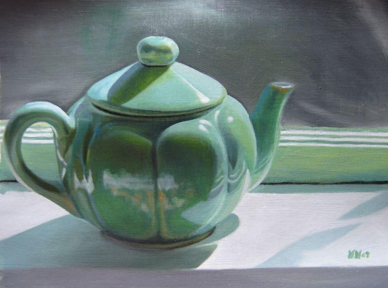 """Jade Teapot"" original fine art by Lauren Pretorius"