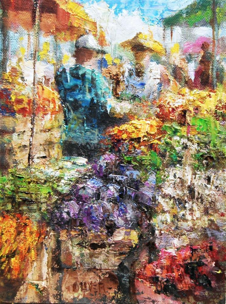"""""""Farmers Market #15"""" original fine art by Julie Ford Oliver"""