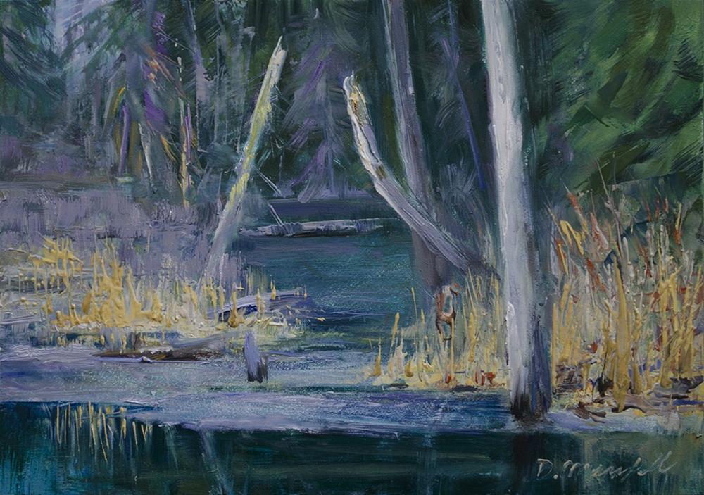 """Winter's Last Holdout"" original fine art by Denise Maxwell"
