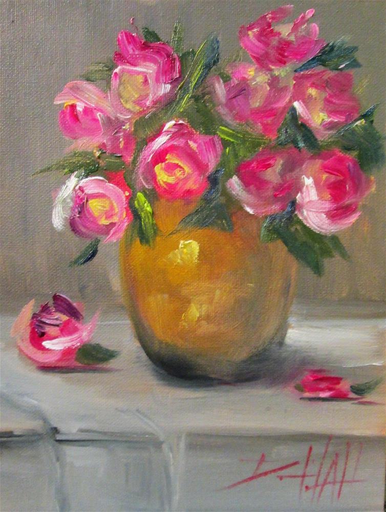 """""""Rose Still Life"""" original fine art by Delilah Smith"""