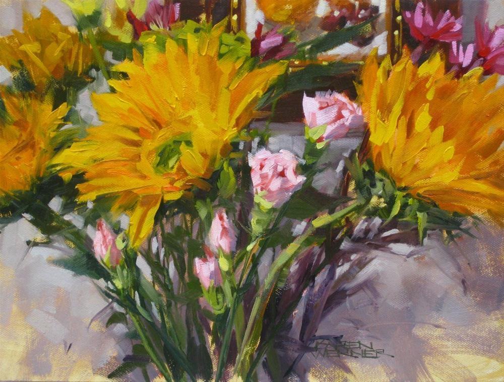 """Studio Flowers 2"" original fine art by Karen Werner"