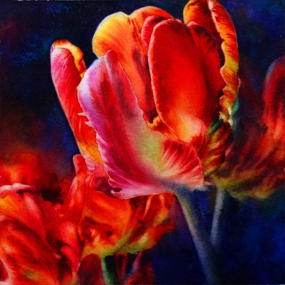 """Fire Dance"" original fine art by Arena Shawn"