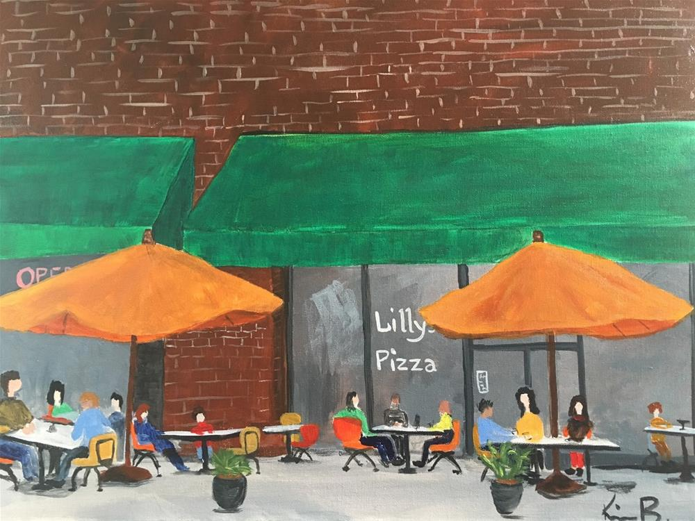 """""""Lilly's Pizza - #4 30in30"""" original fine art by Kimberly Balentine"""