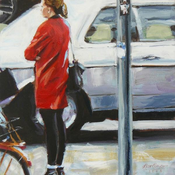 """086 Mantelwetter"" original fine art by Anja Berliner"