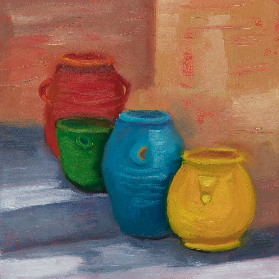 """""""A Colorful Entry"""" original fine art by Johnna Schelling"""