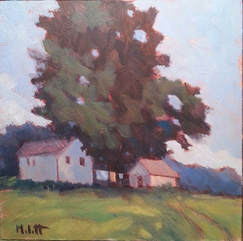 """Laundry Day Barn Painting Rural Impressions"" original fine art by Heidi Malott"