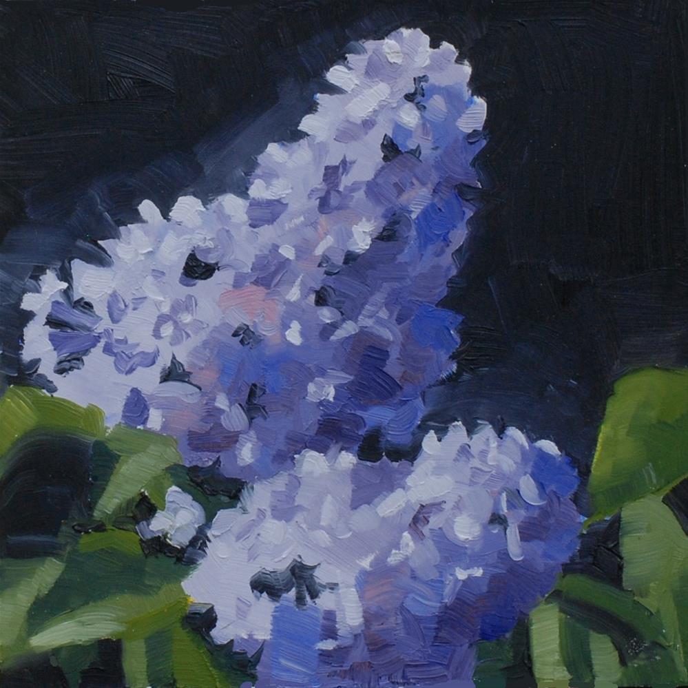 """White Salmon Lilacs"" original fine art by Susan McManamen"