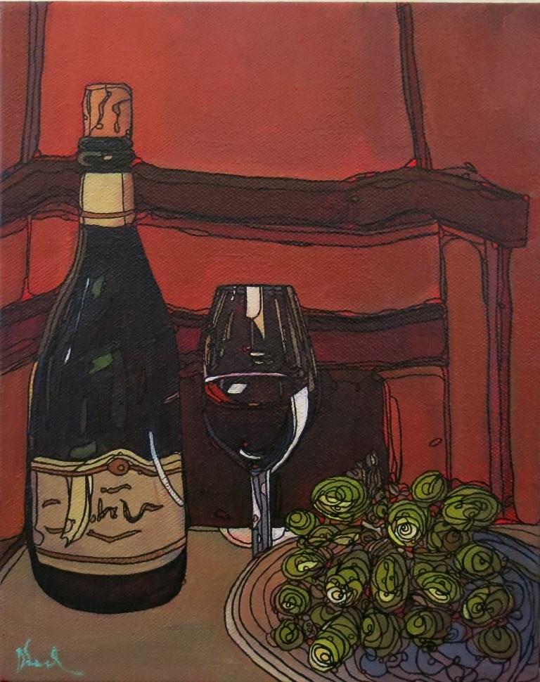 """#2 VINO"" original fine art by Dee Sanchez"