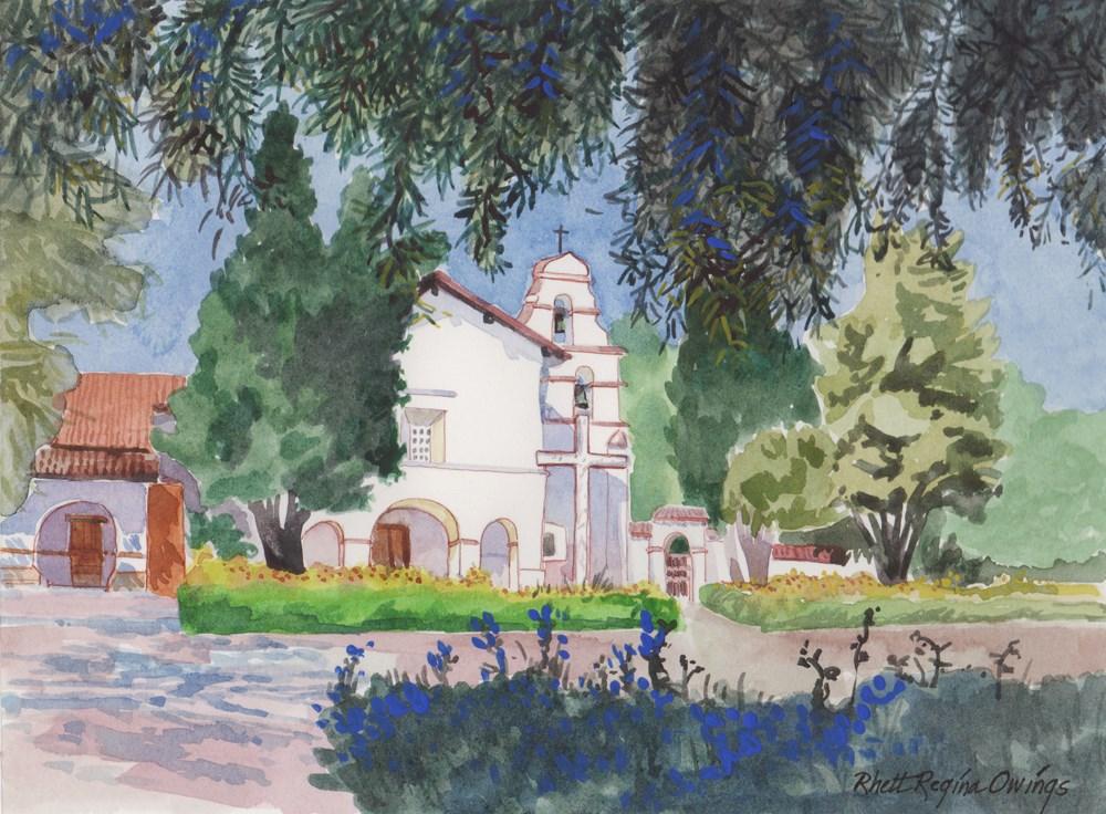 """View Under the Trees"" original fine art by Rhett Regina Owings"