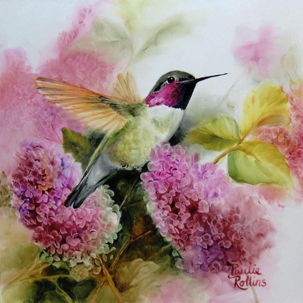 """Clad in Pink"" original fine art by Paulie Rollins"