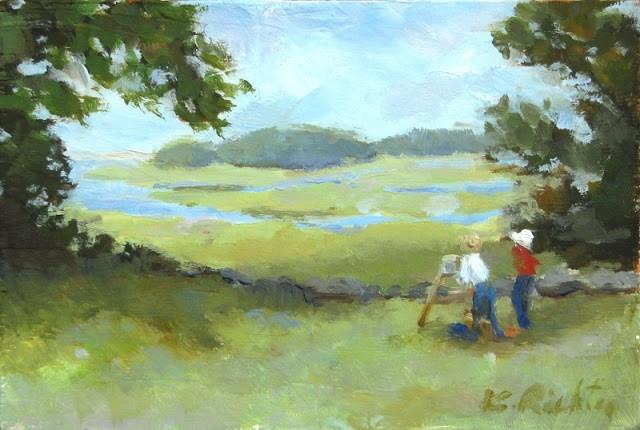 """Artists in Summer"" original fine art by Keiko Richter"