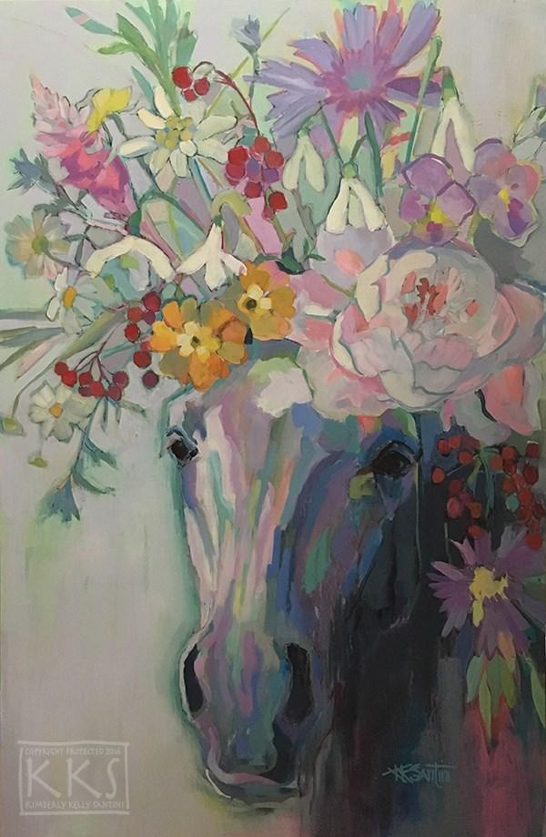 """Stephen's Bouquet"" original fine art by Kimberly Santini"