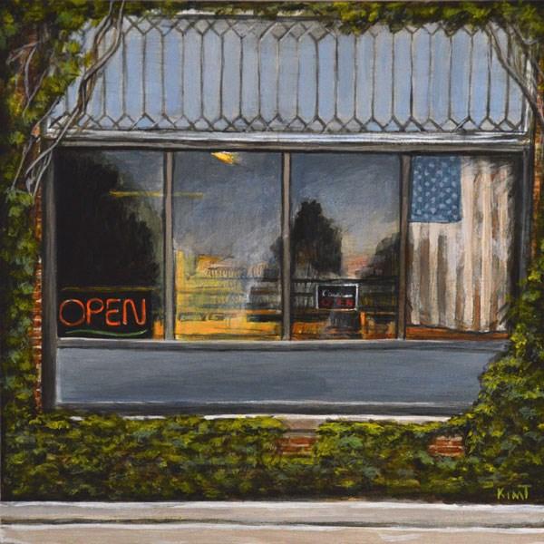 """""""The Old Bookstore Is Still Open"""" original fine art by Kim Testone"""