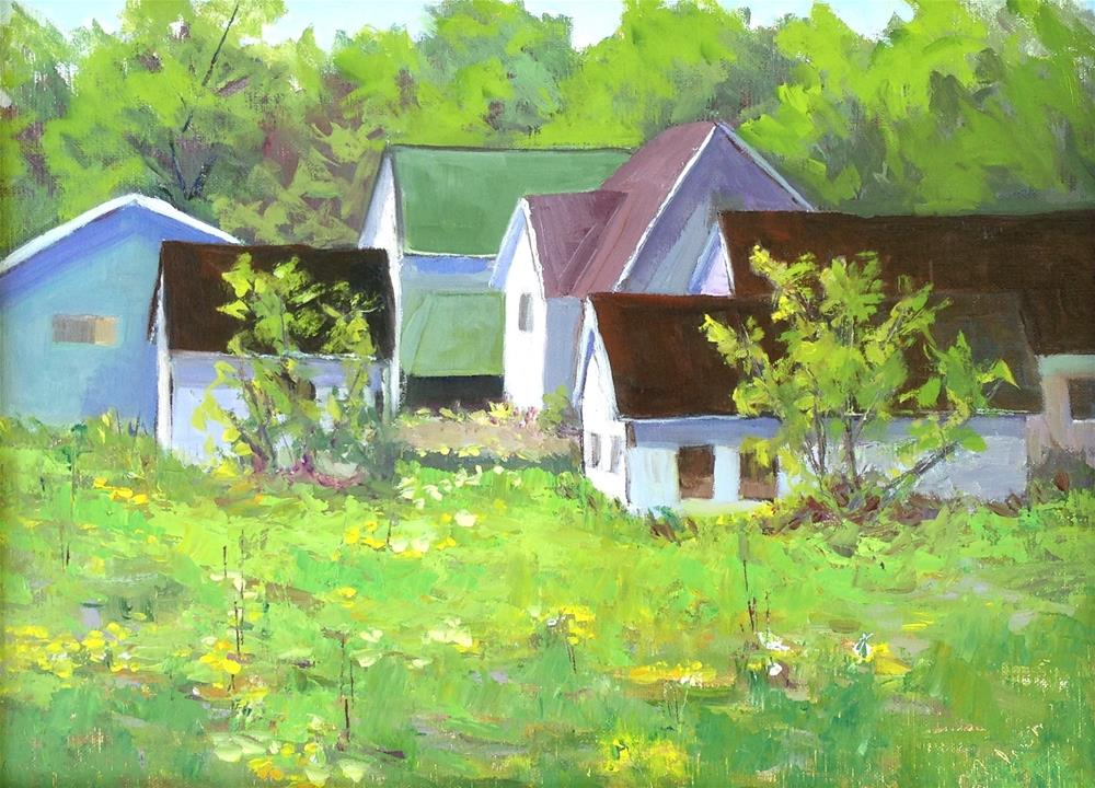 """""""Edge of Town"""" original fine art by Judith Anderson"""