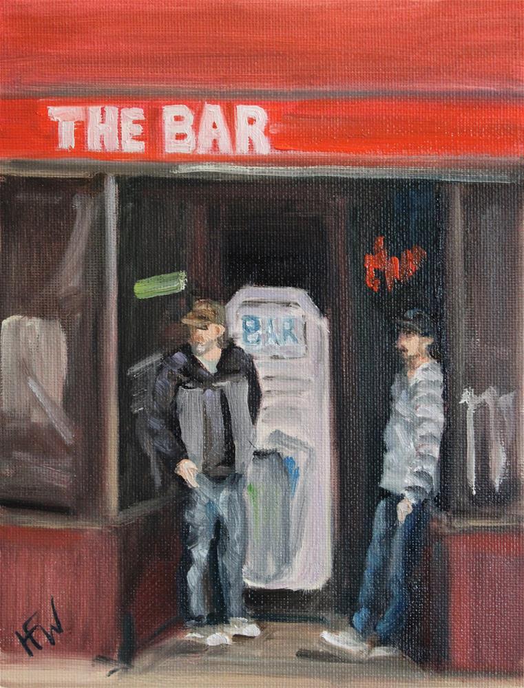 """The Bar- ABC Challenge"" original fine art by H.F. Wallen"