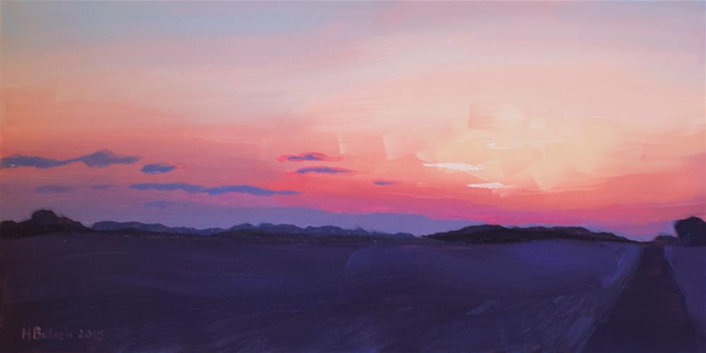 """February Frost"" original fine art by Heather Bullach"