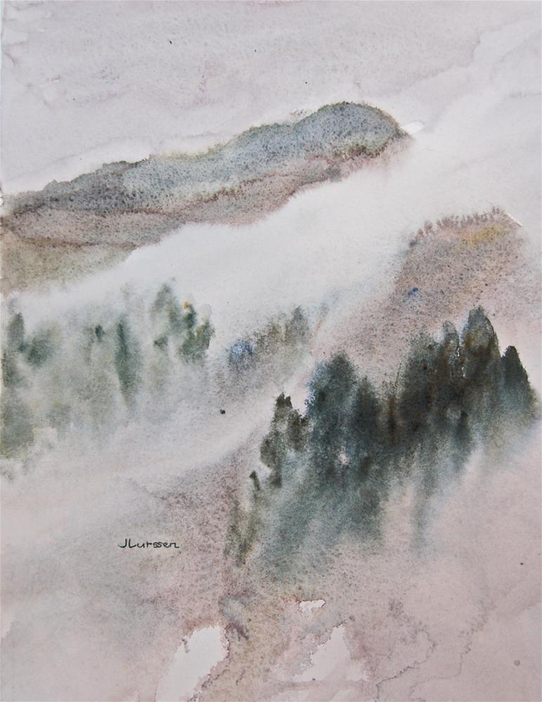 """Mt. Tam In The Mist"" original fine art by Jean Lurssen"