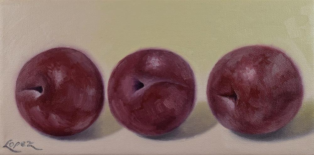 """12. Three More Plums"" original fine art by Gema Lopez"