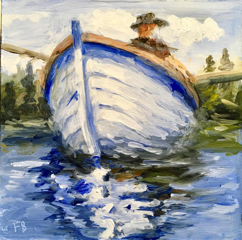 """""""109 Rowboat"""" original fine art by Fred Bell"""