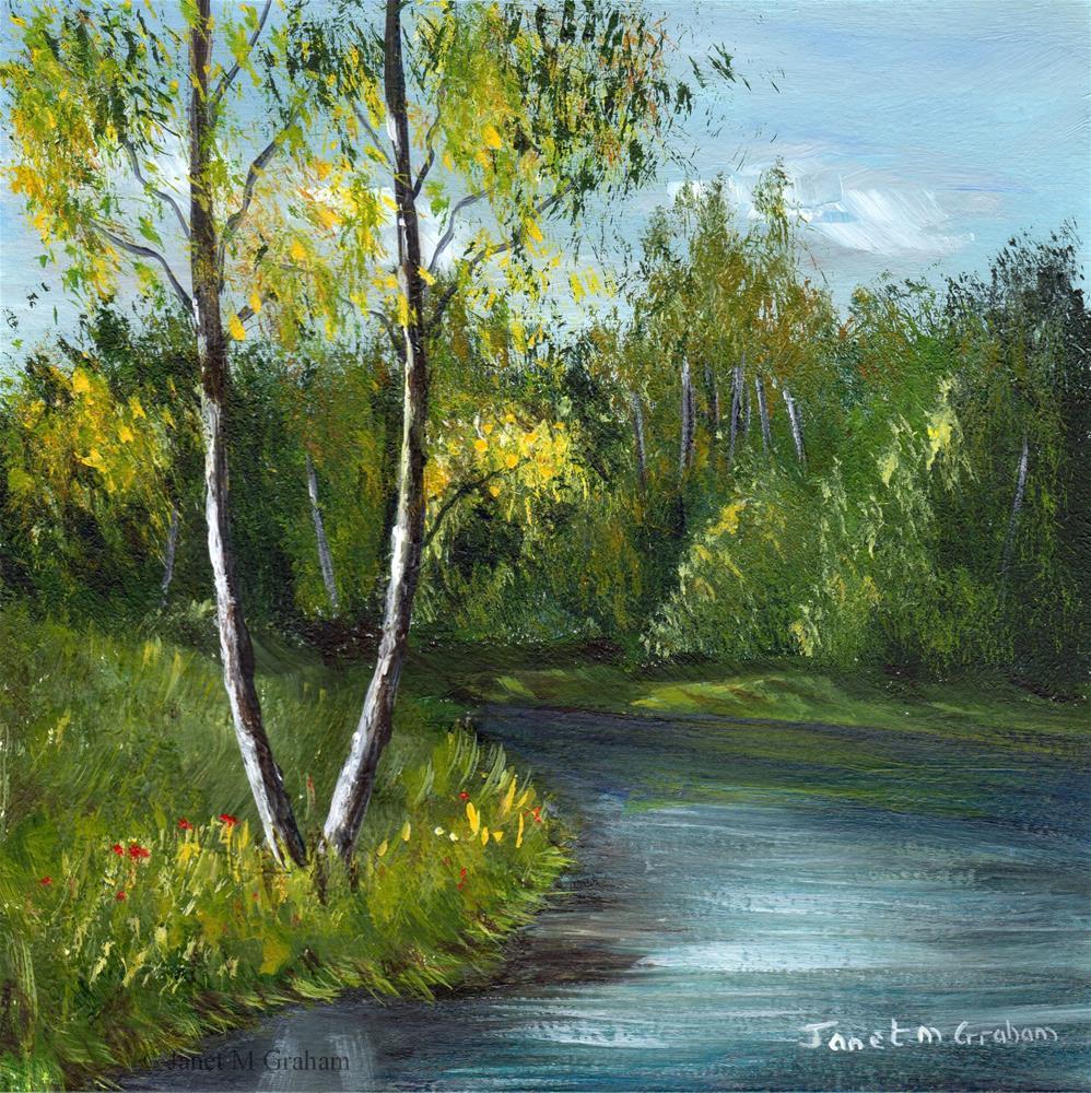 """Spring River"" original fine art by Janet Graham"