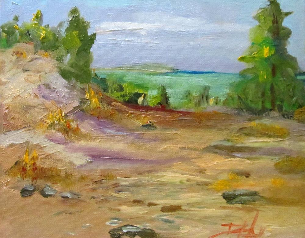 """Sand Dunes"" original fine art by Delilah Smith"