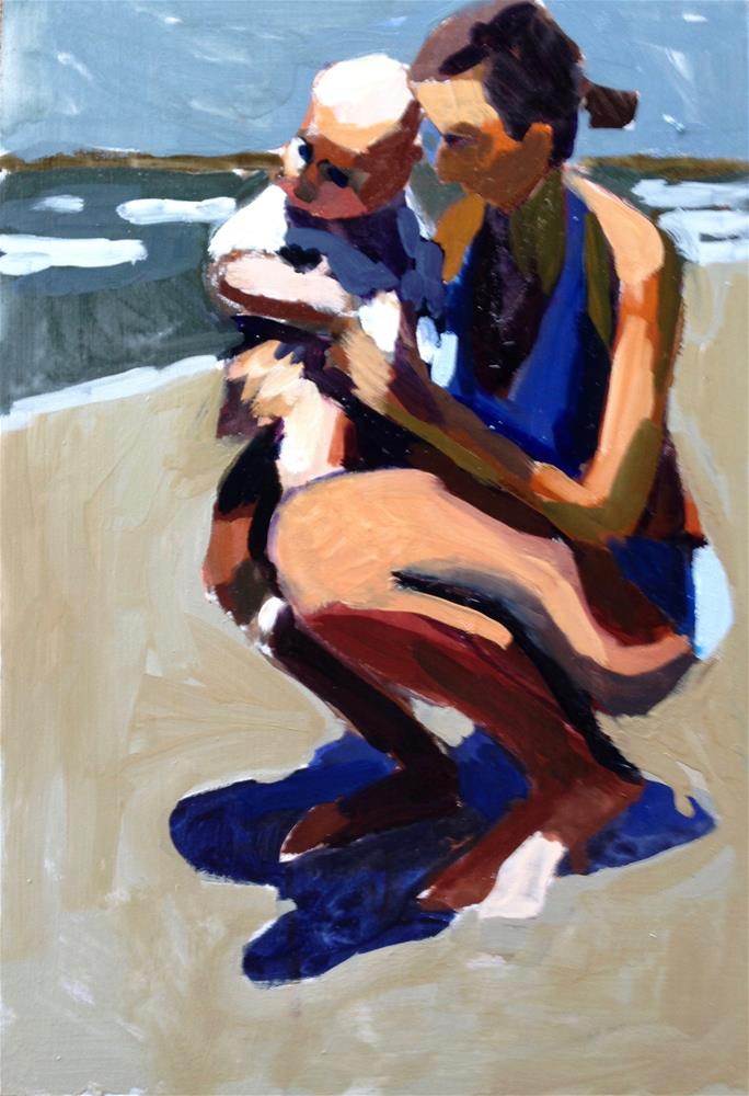 """Blue Shadows"" original fine art by Pamela Hoffmeister"