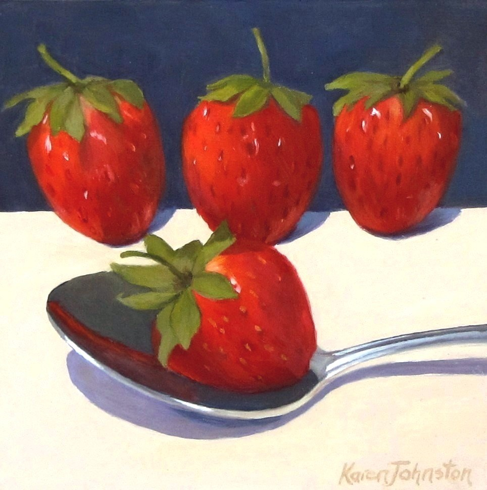 """Sunday Strawberries"" original fine art by Karen Johnston"