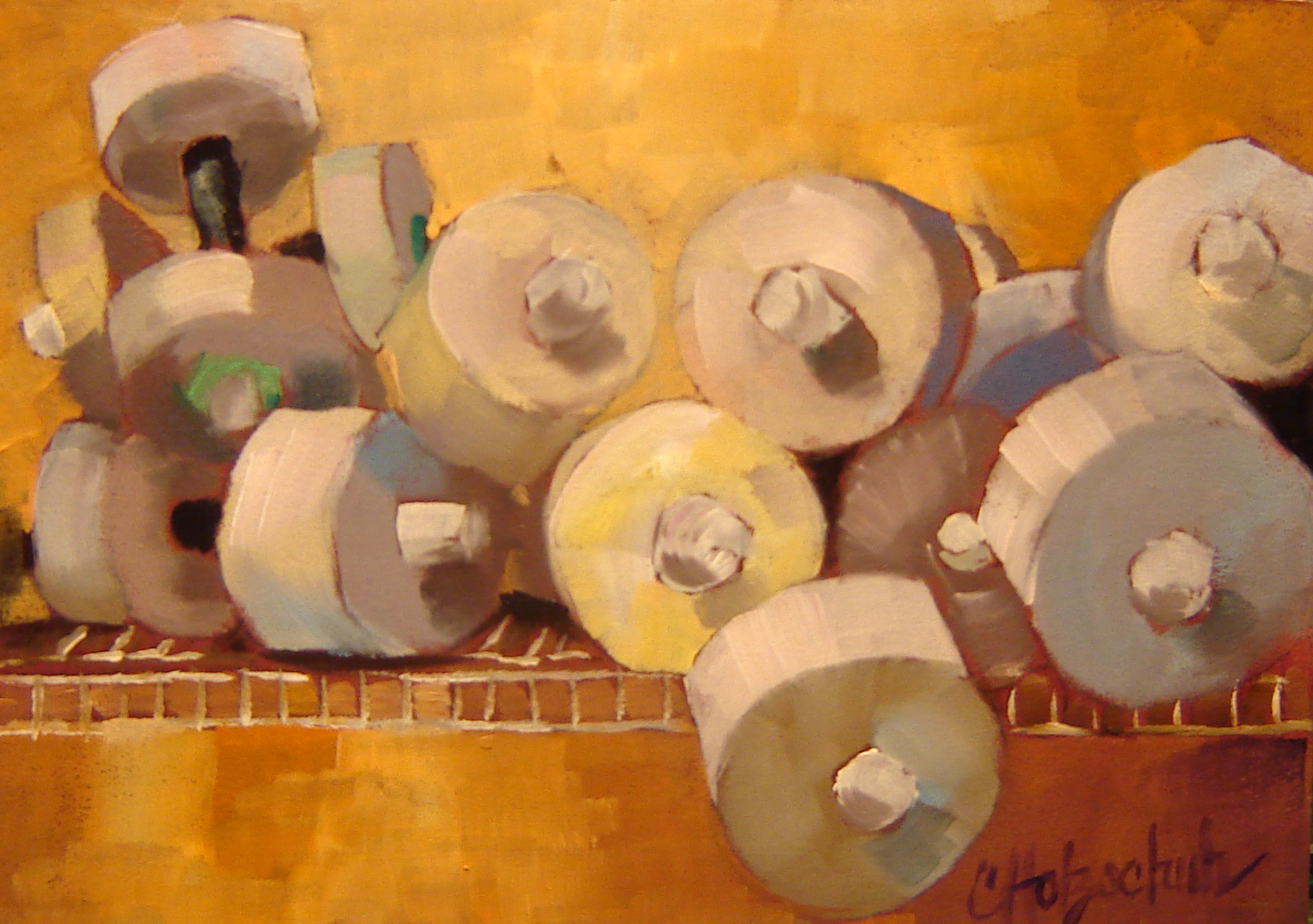 """Water Weights"" original fine art by Christine Holzschuh"
