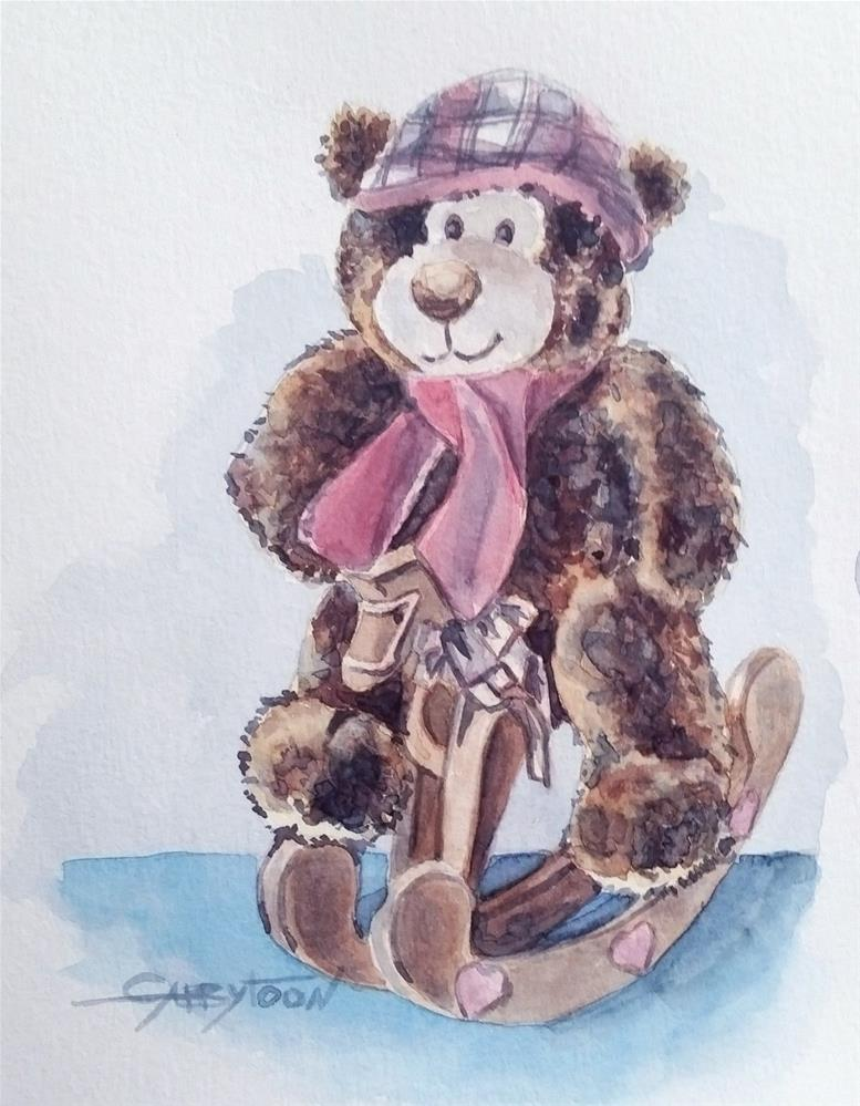 """Happy Bear"" original fine art by Gabriella DeLamater"
