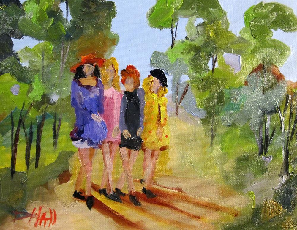 """Girls Walking"" original fine art by Delilah Smith"