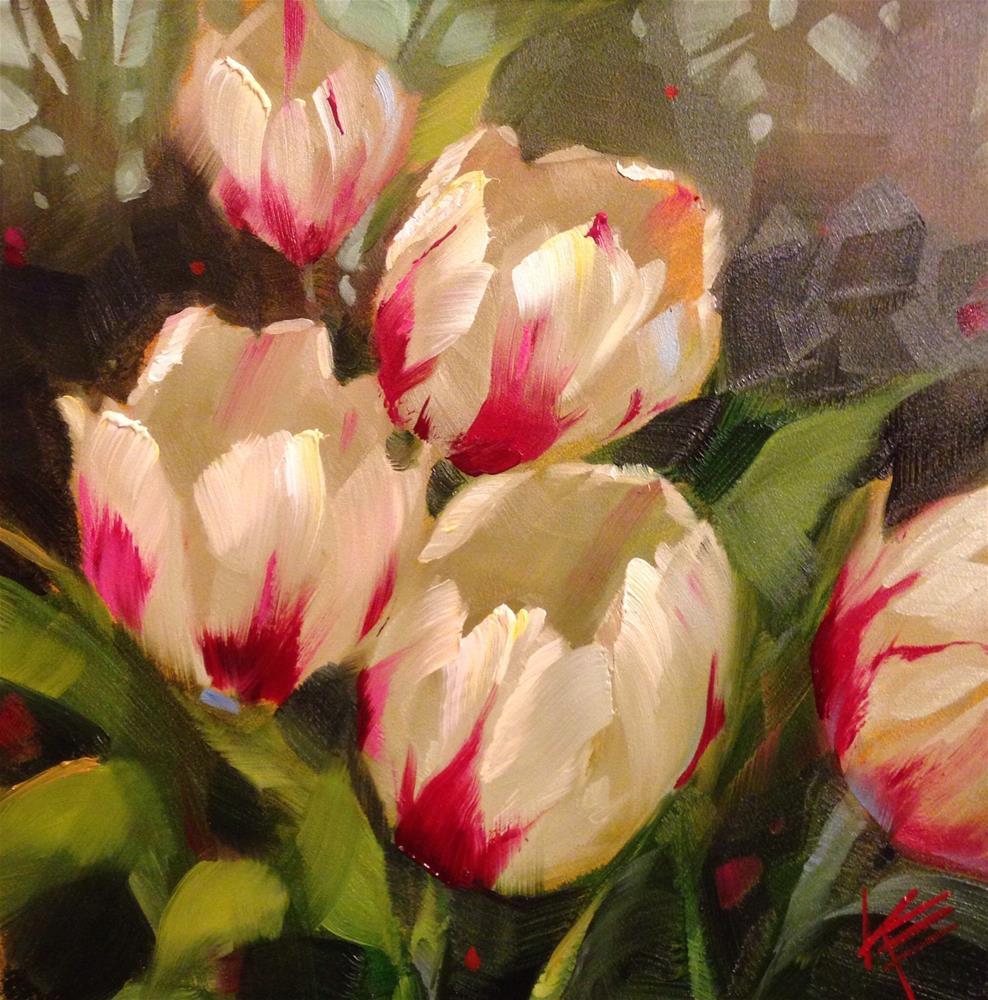 """Flaming Hearts"" original fine art by Krista Eaton"