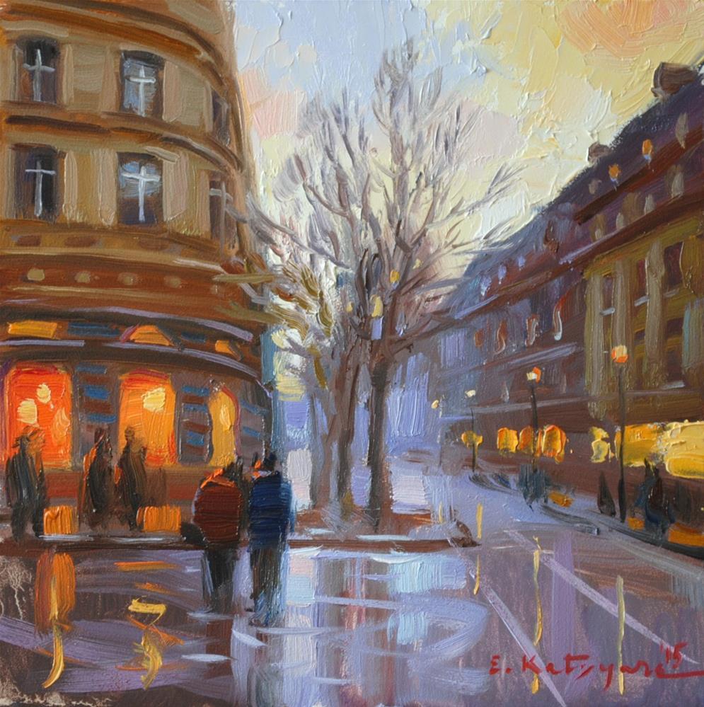 """Evening Walk"" original fine art by Elena Katsyura"