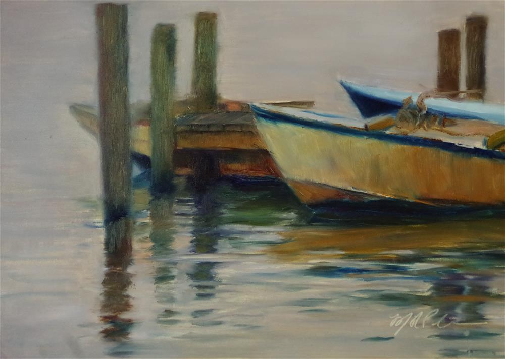 """Evening's Mooring"" original fine art by Marilyn R. Place"