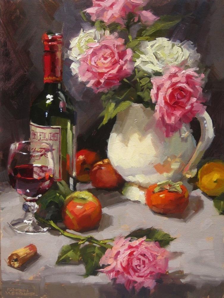 """""""A Little Romance"""" original fine art by Karen Werner"""
