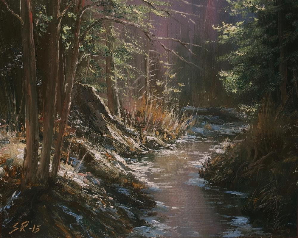 """Deep in the woods"" original fine art by Stig Rosenlund"
