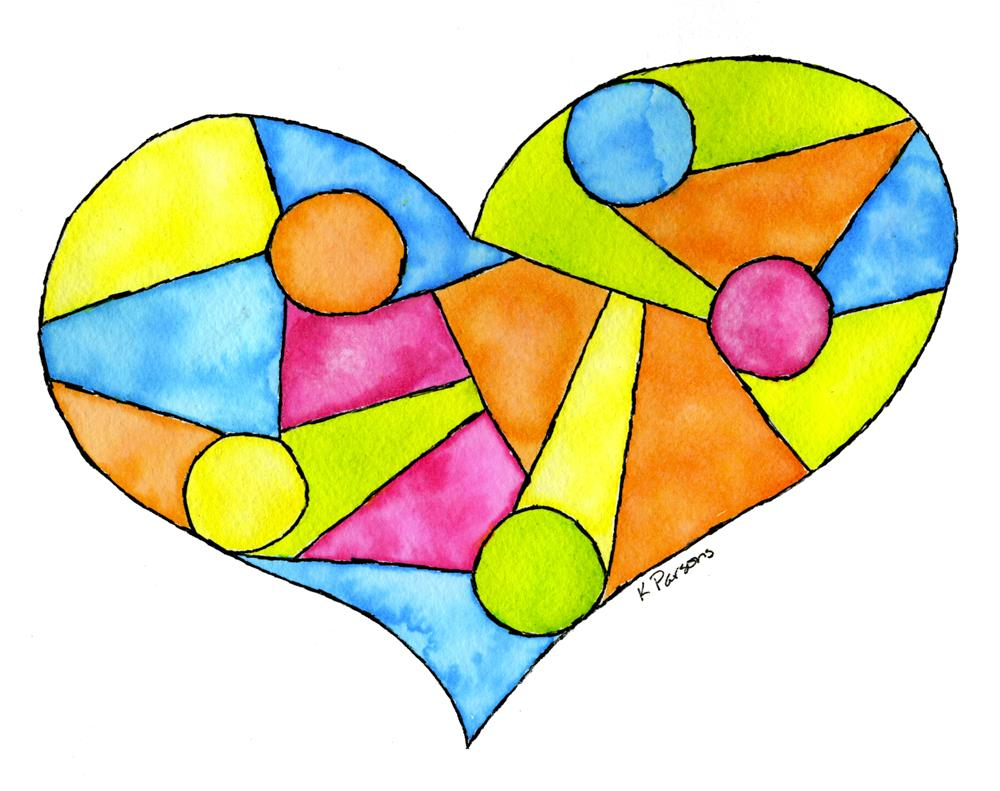 """""""Stained Glass Heart"""" original fine art by Kali Parsons"""