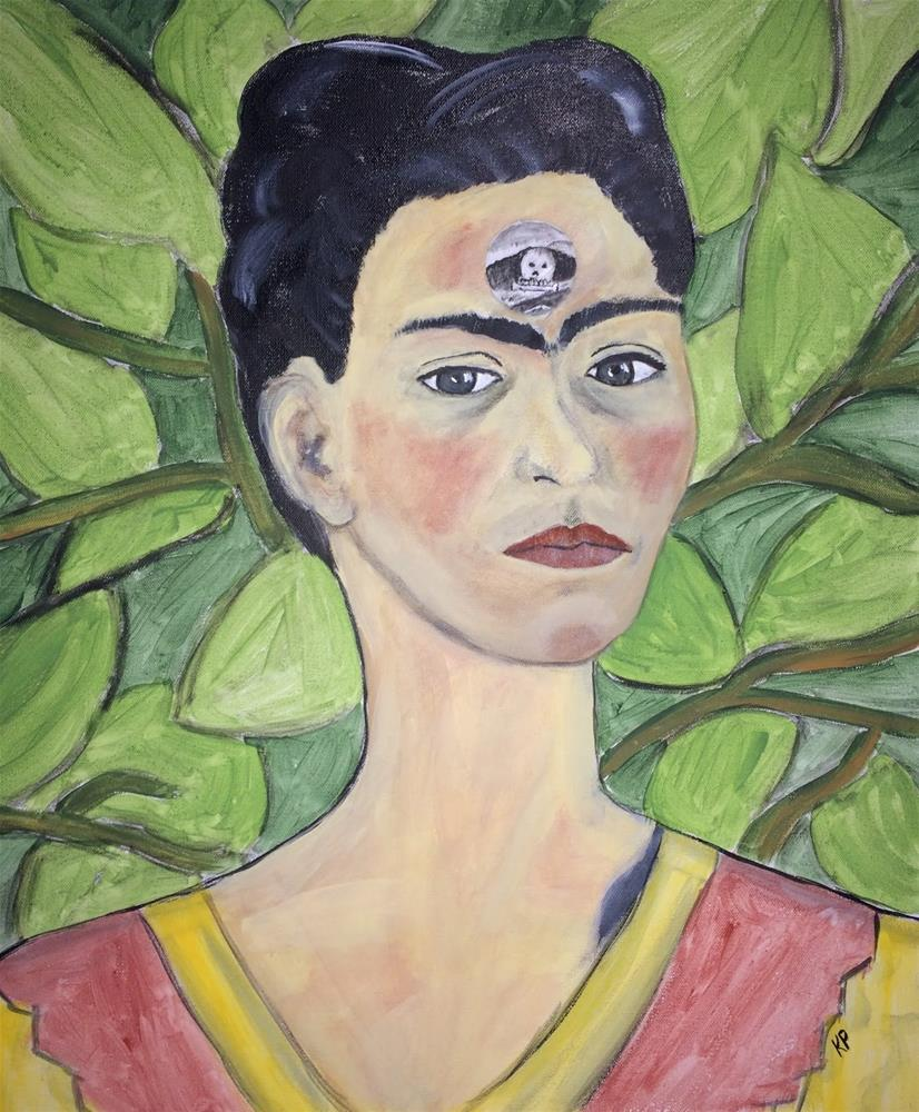 """Stepping into Frida's Mind...Beauty, Strength, Pain, and Joy"" original fine art by Kali Parsons"