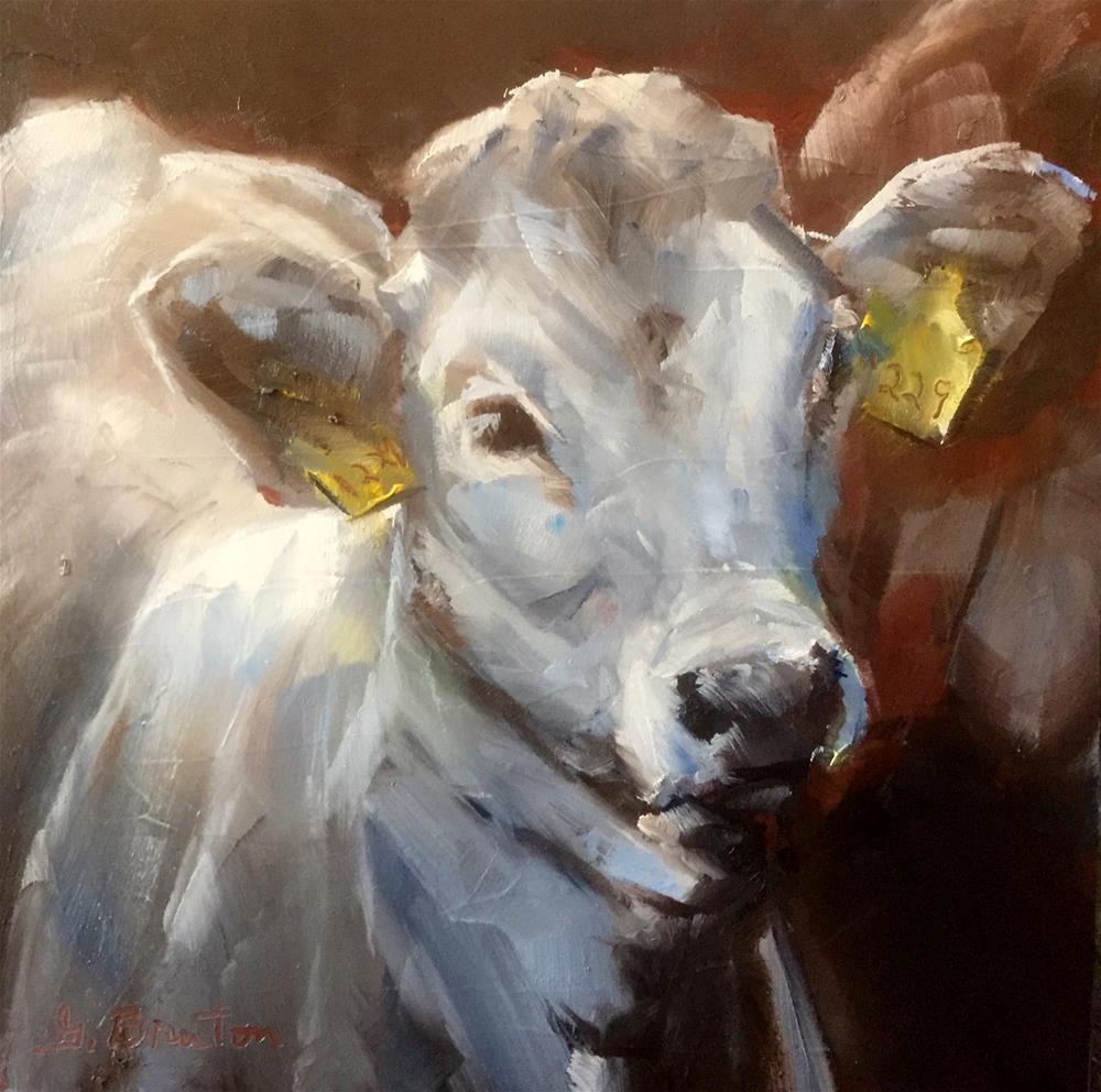 """""""Cattle Call"""" original fine art by Gary Bruton"""