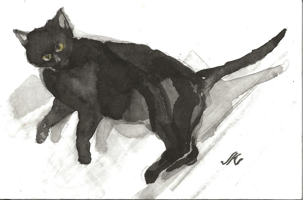 """Daily Cat 97"" original fine art by Jean Krueger"
